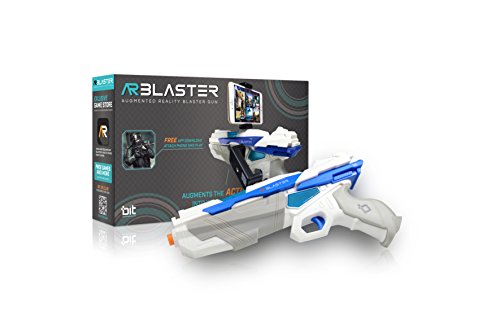 AR Blaster - 360° Augmented Reality Video Game - Smart Phone Toy Gun Controller for iPhone & Android phones - Bluetooth 4.2 - for Boys and Girls, Kid's, Teens and - Pistols Game Video