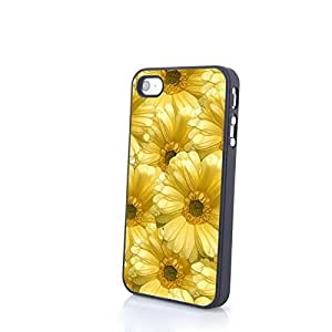 Generic Colorful Cute Flowery Flowers Matte Pattern PC Phone Cases fit for Fresh Beautiful iPhone 4/4S Cases