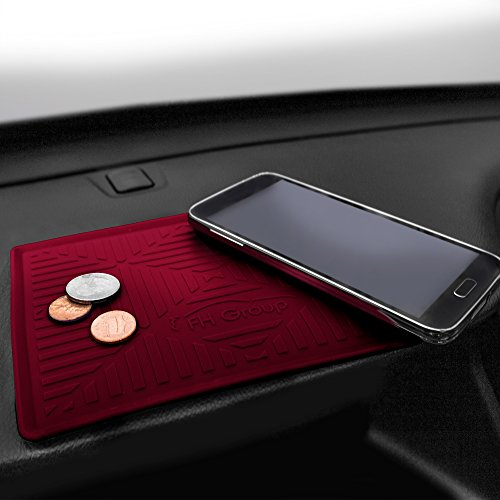 FH Group FH3011 Silicone Anti-Slip Dash Mat Smartphone iPhone, iPhone Plus, Galaxy, Galaxy Note Coin Grip, Burgundy Color