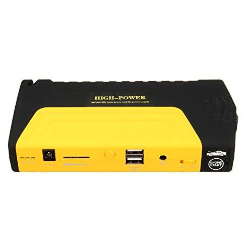 50800mAh LED Dual USB Car Jump Starter Booster Portable Power Bank Backup Charger