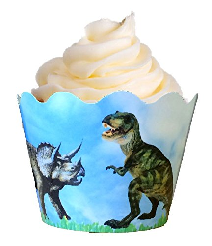 12 x Dinosaurier Dekorative Cupcake verpackungen