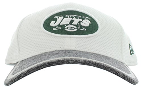 NFL New York Jets 2016 Training Camp Team Color 39THIRTY Stretch Fit Cap, Medium/Large, White/Gray Heather