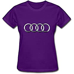 Van Women's Volks Wagen AG Germany Audi Car Brand Logo Tees XXL Purple