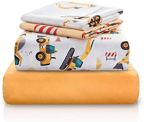 Chital Construction Tractor Microfiber Bedding product image