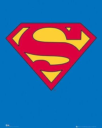 amazon superman logo poster 50x40cm 映画 オンライン通販