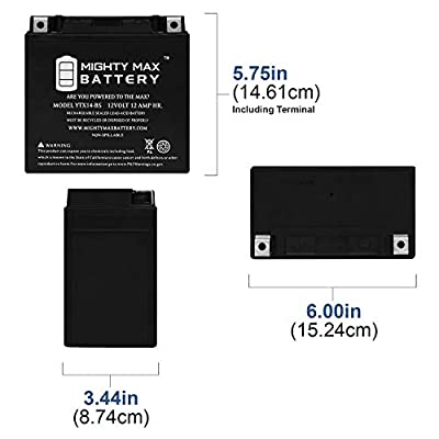 Mighty Max Battery YTX14-BS Replacement for Polaris 250 Sportsman Magnum : Sports & Outdoors