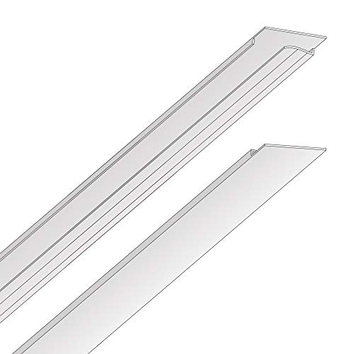 - EZ-On T-bar Ceiling Grid Cover Kit - Snap On - White - 58 Piece (96 sq ft)