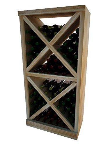Wine Cellar Innovation Premium Redwood Vintner Series Solid Diamond Cube, 4 ft.