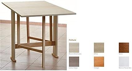 Tavolo In Legno Richiudibile Pieghevole Bianco Mod Susanna 140x75x78 Cm Amazon It Casa E Cucina