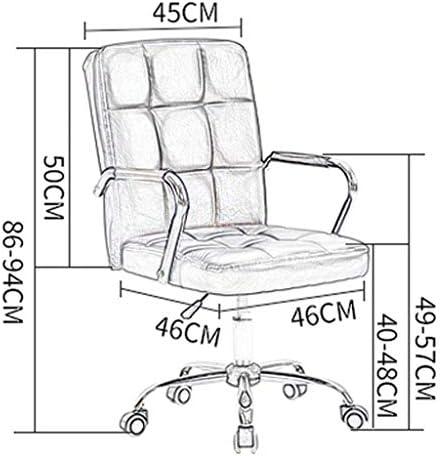 QNN Chaise de Bureau, Chaise de Bureau D'Ordinateur, Durable Et Stable, Réglable En Hauteur, Ergonomique Pour Le Bureau À Domicile, Rose
