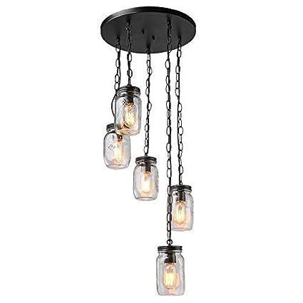 Amazon.com: Lámpara colgante, lámpara colgante, estilo ...