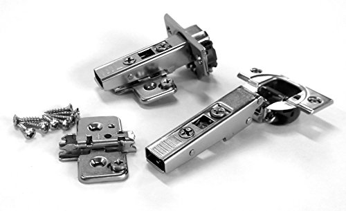 (Blum CLIP top BLUMOTION Hinges, 110 degree, Frameless, with Mounting Plates (Full Overlay - 2 Pack (1 pair)) )