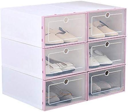 Lanbowo Zapato Caja Transparente Plástico Zapato Caja FILP Diseño Almacenamiento Zapatos Artefactos Hogar Almacenaje Herramienta - Rosa: Amazon.es: Hogar