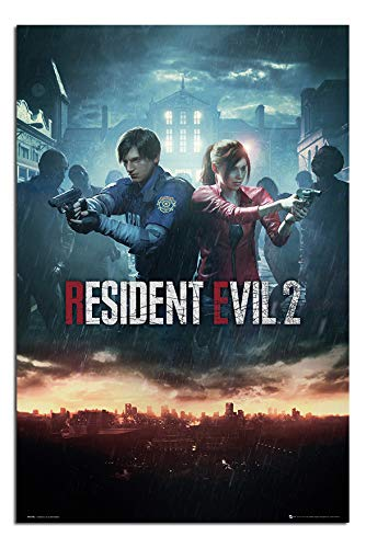 Price comparison product image Resident Evil 2 Poster City Maxi - 91.5 x 61cms (36 x 24 Inches)