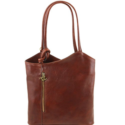 81414974 - TUSCANY LEATHER: PATTY - Sac en cuir convertible en sac à dos, marron