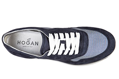 Allacciato Shoes Suede h222 Sportivo Trainers Hogan Sneakers Women's blu XL 6xwS1En85