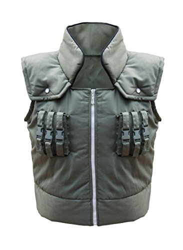 DAZCOS Kids Costume Kakashi Hatake Cosplay Vest (Child Medium) Army Green]()