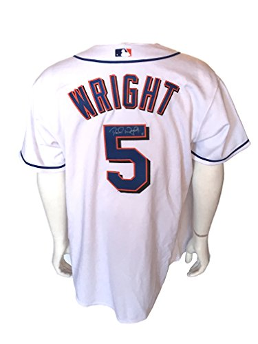 David Wright signed game used 2005 NY Mets home jersey autograph JSA LOA David Wright Signed Jersey