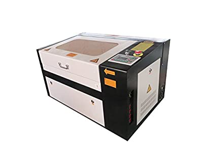 MegaLane 50W Laser Engraving Cutting Machine Laser Cutter Engraver with 300*500MM Motrorized Worktable DSP Precision Control Red Dot Position Rotary Device