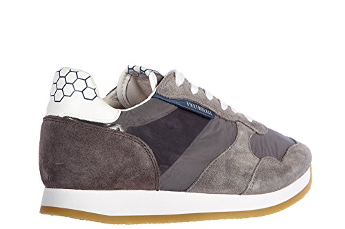 Scarpe Da Uomo Bikkembergs Sneakers In Pelle Scamosciata Sneakers Vintage Grigio Vintage