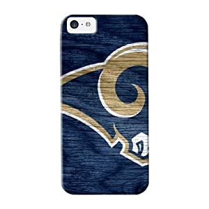 Case For Iphone 5c Tpu Phone Case Cover(st Lois Rams Blue Weathered Wood) For Thanksgiving Day's Gift