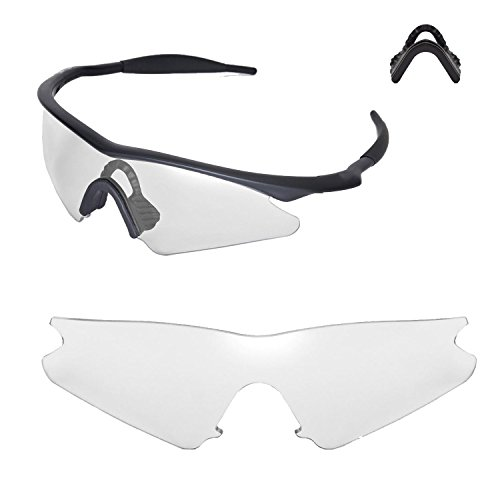 Walleva Replacement Lenses or Lenses With Nosepad for Oakley M Frame Sweep - 40 Options Available (Clear + - & Frames Lens