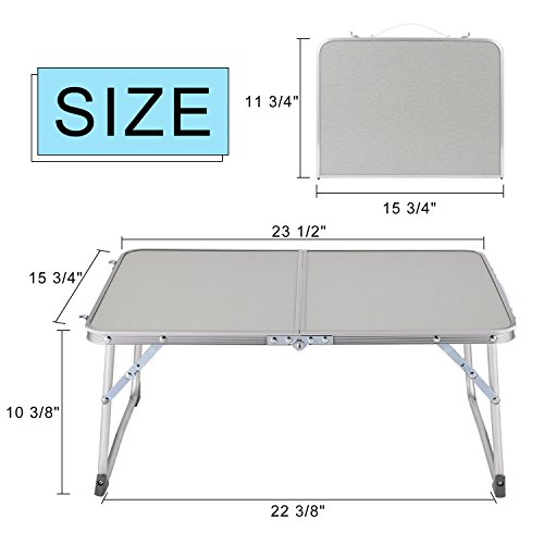 Hindom Aluminum Portable Folding Utility Table with Carrying Handle Portable Patio Table for Garden Party Camping Picnic(US Stock) (Gray) by Hindom (Image #5)