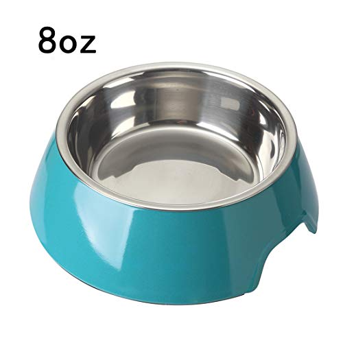 Mainstreet Dog Bowls Stainless Steel Bamboo Fiber Water and Food Feeder with Stand Animal Pet Food Holder Eco-Friendly for Dogs Cats (Blue, Medium) by Mainstreet (Image #9)