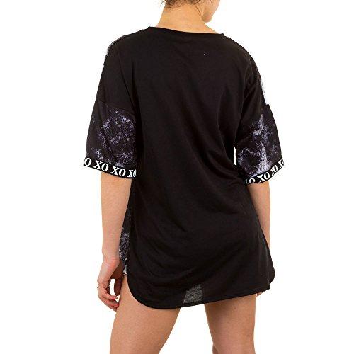 Ital-Design - Camiseta - para mujer negro