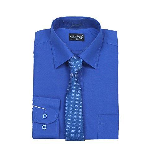 scarpe di separazione 44199 a5d92 Paggetto Blu Elettrico Camicia e Cravatta Set: Amazon.it ...