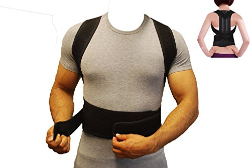 Comfort Back Support Brace and Posture Corrector , Back Pain Relief for Men and Women Black – DiZiSports Store