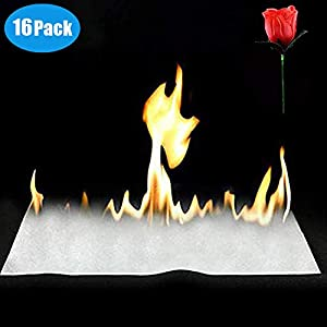 15 PCS Magic Flash Paper 1 PC Torch Fire to Rose Flower Amazing Magic Tricks Performance Props Accessories Magic Stage Props Fire Flame To Rose Paper Fire Trick for Magic Show