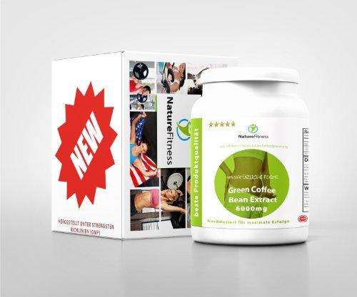 Green Coffee Bean HOCHDOSIERT 6000mg 120 Kapseln NEU! Grüner Kaffee