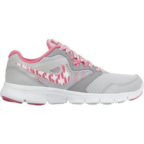 Nike Flex Experience 3 (GS) - Zapatillas para niña, color gris / rosa / blanco