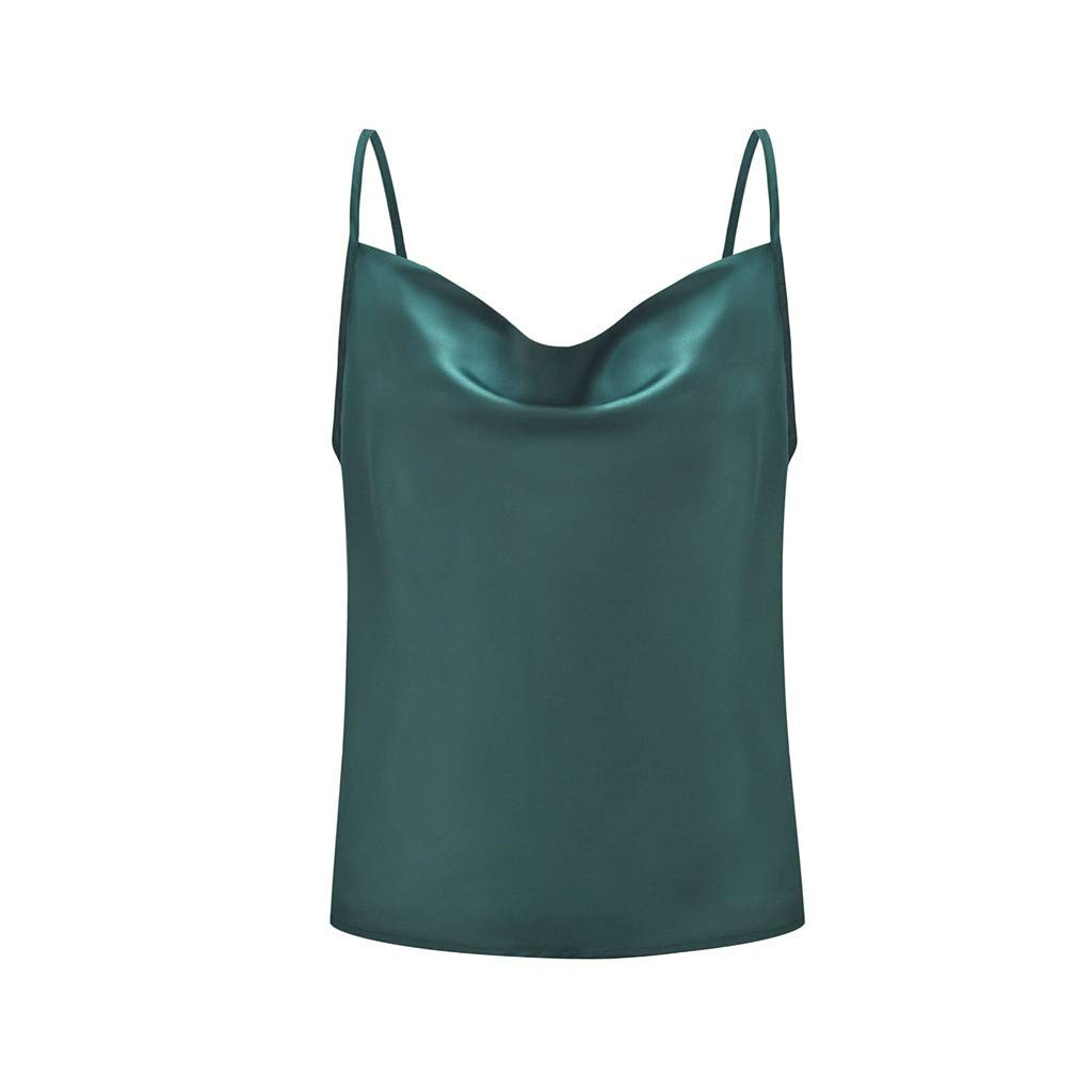 Mlide Women's Solid V-Neck Adjustable Strap Vest Top Sexy Casual Basic Strappy Solid Tank Tops
