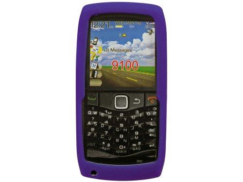 (Cellet Purple Jelly Case for BlackBerry Pearl 9100)