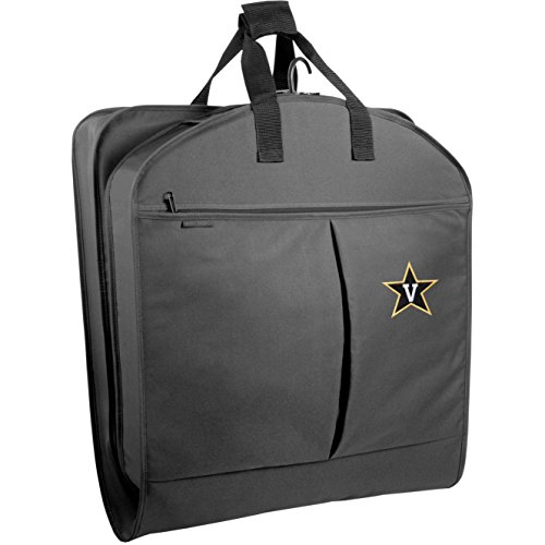 Price comparison product image WallyBags Vanderbilt Commodores 40 Suit Length Garment Bag with Pockets, Black Van