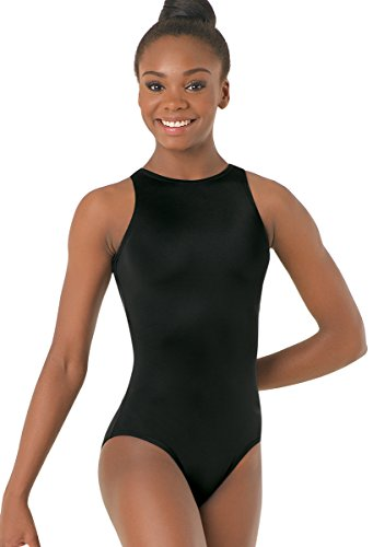 Leotard Cross Front - Balera Dance Leotard High Neck Tank Style with Crisscross Straps