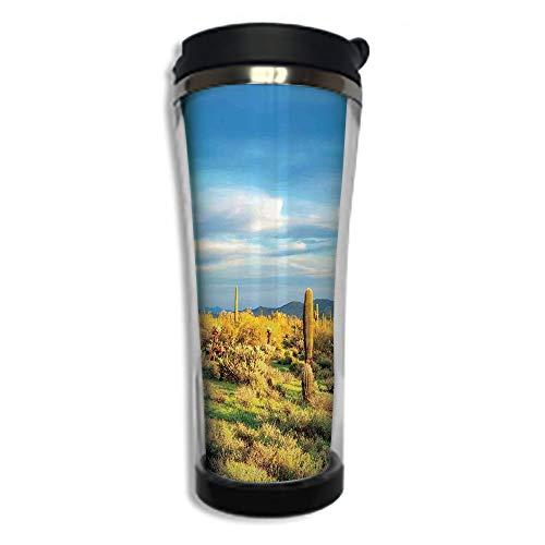 Customizable Travel Photo Mug with Lid - 14.2OZ(420 ml) St