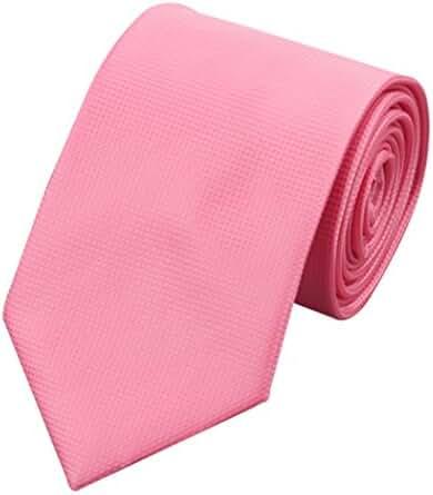CAOFENVOO Men's Silk Formal Solid Necktie