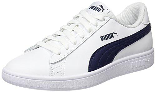 L Blanc peacoat Adulte Basses Mixte V2 Puma Baskets Puma White Smash 0vYxpwnEO