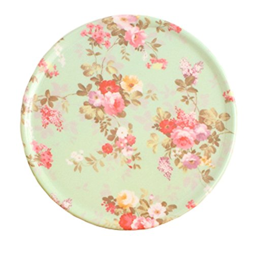 4PCS RetroStyle Cup Mats Plate Coasters Saucer Drinks Holder Tray, Flowers
