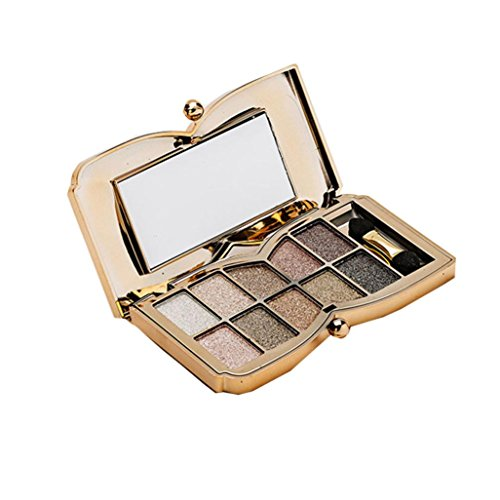 Usstore 1PCS Eyeshadow 10 Colors Shimmer Makeup Cosmetic (F)