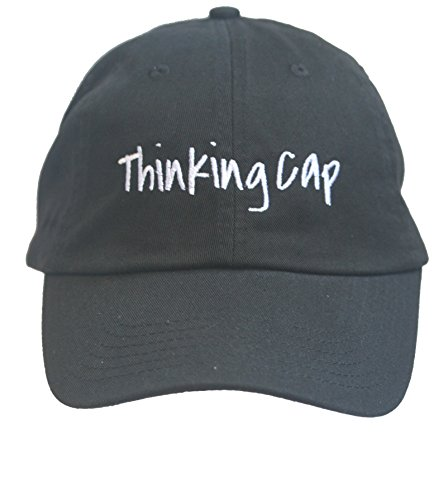 Thinking Cap - Black Embroidered Ball Cap -