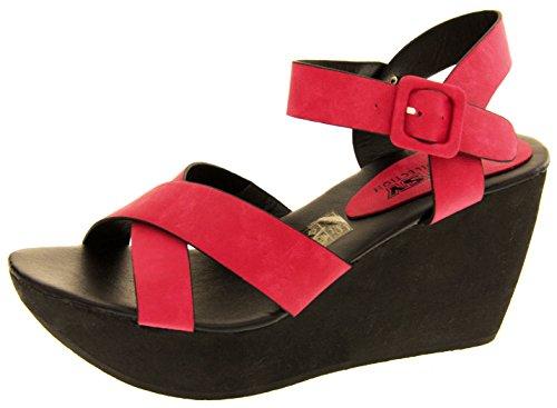Footwear Studio Betsy Ladies Wedge Sandales Talons Rose WR8kcywvZK