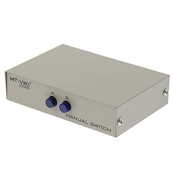 1Pcs DB9 Pinza Serial Manual Data Switch Box Impresora DB9 ...