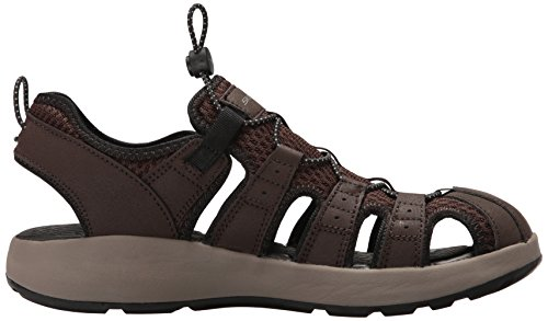 Skechers Uomo Aperta Punta a Leather Brown Mesh Black Trim Marrone Sandali Melbo Ag7qXrA