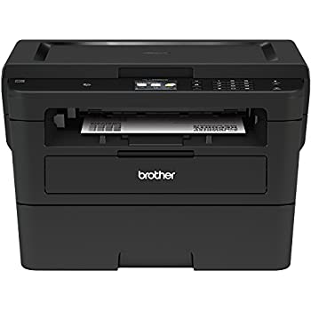 Brother Compact Monochrome Laser Printer, HLL2395DW, Flatbed Copy & Scan, Wireless Printing, NFC, Cloud-Based Printing & Scanning, Amazon Dash Replenishment Enabled - BLACK