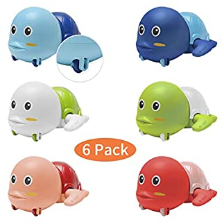 SS Bath Toys,Wind-Up Swimming Turtles Bathtub Toys Pool Toys for Toddlers Kids Boys Girls Floating Water Toy 6 Pcs