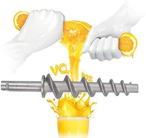 ZHIRCEKE Manuel Presse-Agrumes en Acier Inoxydable Presse-Agrumes Manuel tarière Lente Presse-Agrumes Fruits Herbe de légumes légumes Orange extracteur de jus Machine